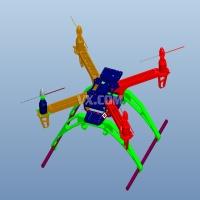 四轴飞行器三维图