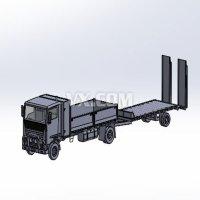 卡车和拖车组合