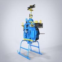神龙520-VI航拍机双缸汽油航拍直升机主体3D图纸 solidworks设计