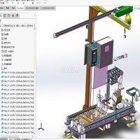 标准手动拧紧工位设计模型3D图纸 solidworks设计图档