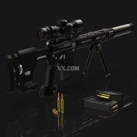 solidworks2016绘制狙击枪模型(包含内部结构)