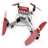 CGPdesign四轴无人机模型3D图纸 solidworks设计