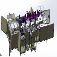 全自动直线循环生产线(贴标 组装 测试)3D模型 SolidWorks设计(1)