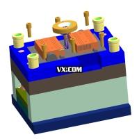 电动车充电器下盖注塑模设计UG三维图