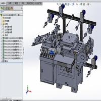 (全参数)单座复杂的模切机(全凸轮连杆传动)3D模型 Solidworks