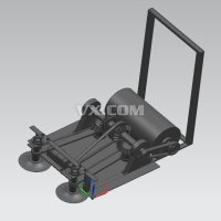 智能拖地机机械结构设计(小型手推式拖地机全套含CAD图纸)