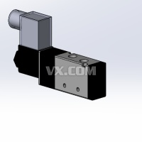 气动电磁阀三维图SLDPRT.