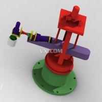 三自由度圆柱坐标搬运机械手设计及模拟仿真(全套含CAD图纸及三维图纸模型仿真视频)