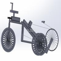 一种娱乐健身车的设计【全套包含CAD图纸三维建模和说明书】(单人)