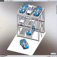 三层三列升降横移自动化立体车库机械系统设计【全套包含CAD图纸三维建模】