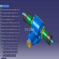 汽车半轴主减速器传动齿轮结构(详细)