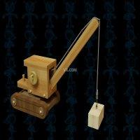 木制起重机玩具