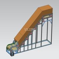 大倾角带式输送机结构设计三维图