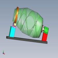 混凝土搅拌车搅拌实验系统仿真设计(CAD图纸+三维UG+SolidWorks)