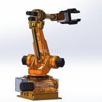 六自由度工业机械手臂 机器人手臂关节 包含3D、2D图纸 二维三维参考