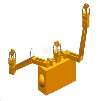 高压输电线巡检机器人机械设计【全套包含CAD图纸三维建模】