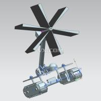 中央空调风管清洗机器人的结构设计【全套包含CAD图纸三维建模】