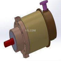 斜盘式轴向柱塞泵设计【含PROE+SW+UG+通用三维】