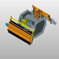 微型全自主扫雪机器人机械结构设计【含3张CAD及UG三维仿真】