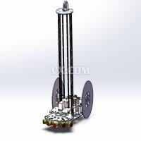 电控无碳小车三维模型