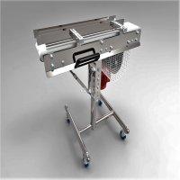 高度和角度可调节的小型移动式输送机solidworks设计