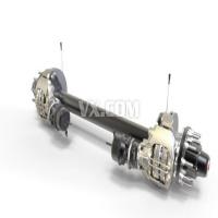 重卡盘式制动器轴与制动装置