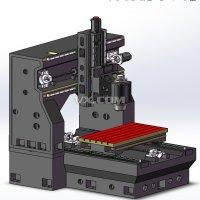 小型龙门数控铣床3D模型 Solidworks设计