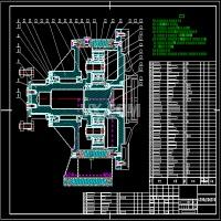 行星齿轮减速器完整cad装配图及完整catia模型