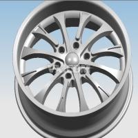 proe 4款汽车轮毂3D和图纸