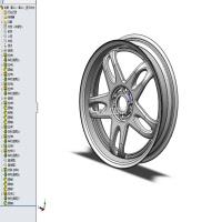 solidworks 某一车型轮毂3D和图纸