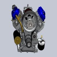 百力通先锋V型双缸发动机