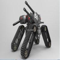 升级版远程遥控射击机器人