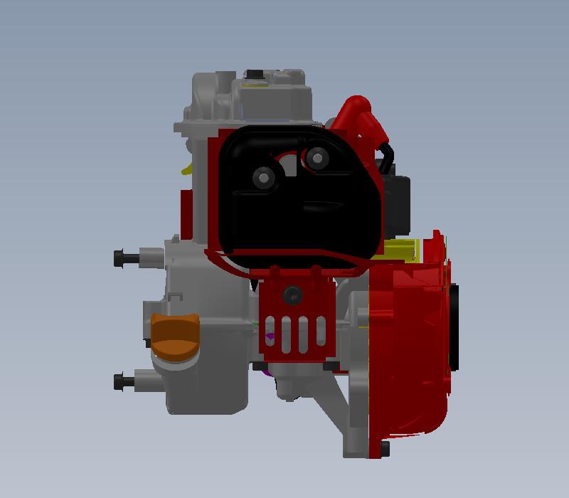 本田gx-25水平轴发动机
