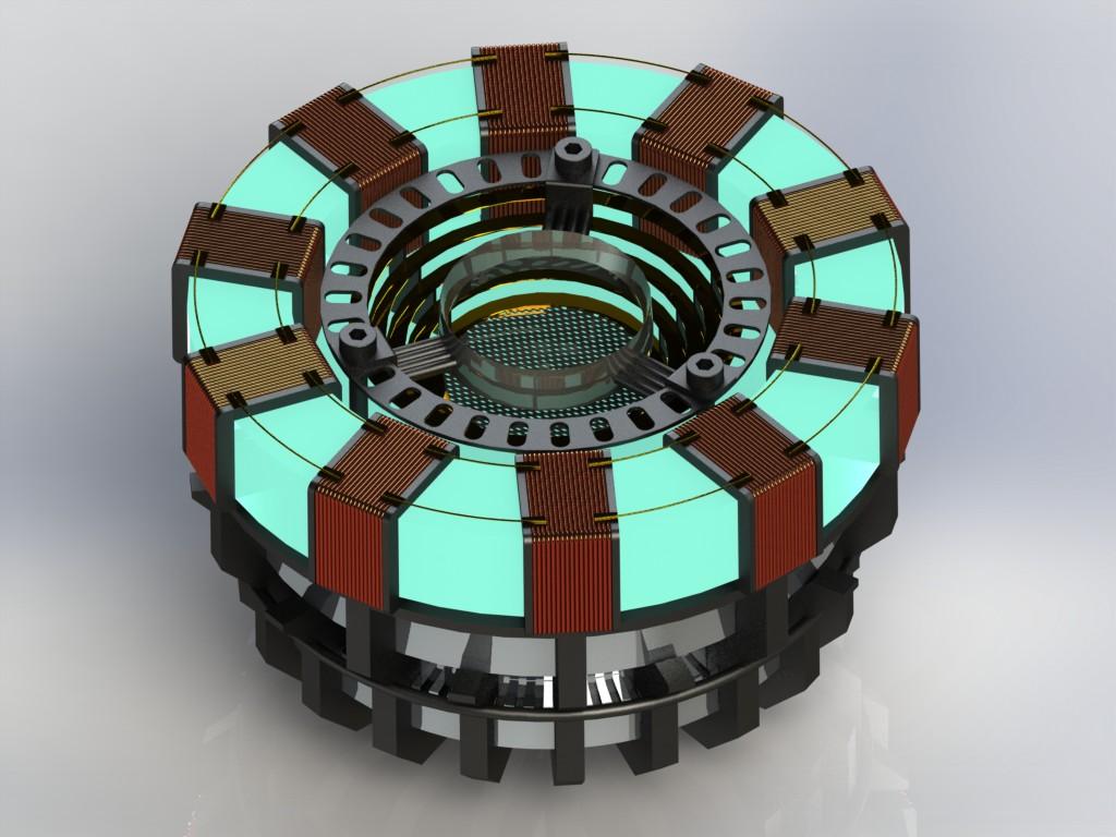 钢铁侠的arc reactor方舟反应堆 nx 3d模型 图纸下载 高清图片