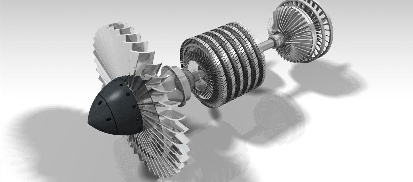 航空发动机_catia_航天航空_3d模型_图纸下载_微小网