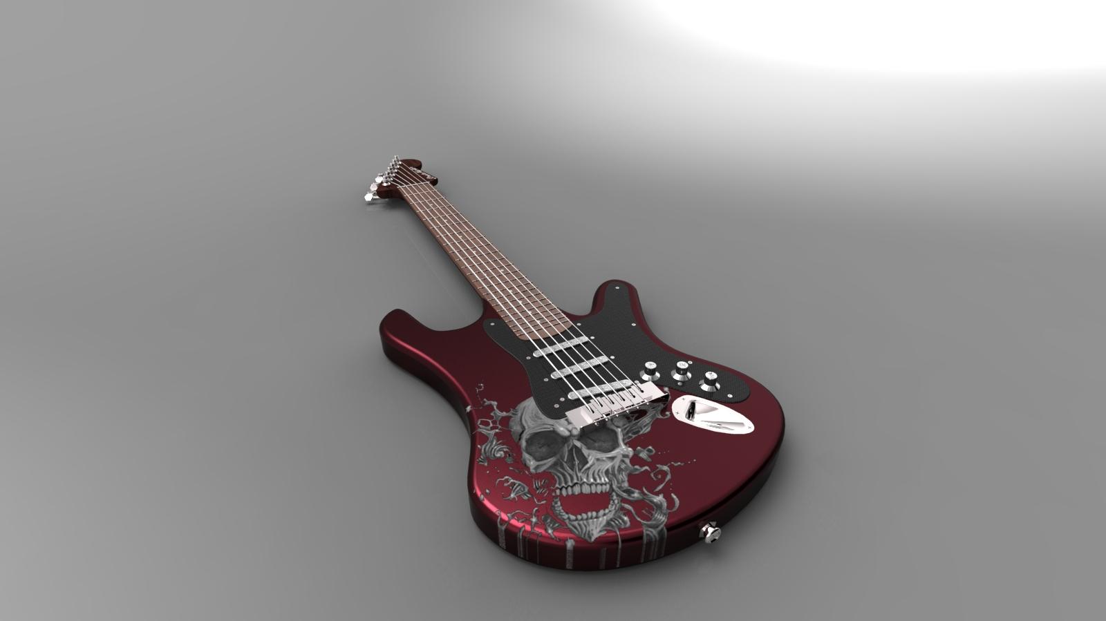 电吉他_solidworks_玩具礼品_3d模型_图纸下载_微小网