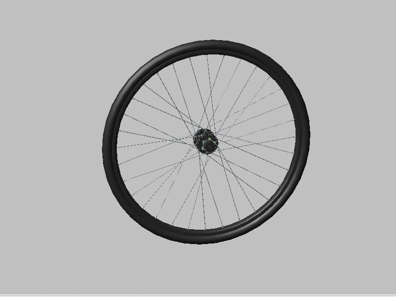 自行车车轮_step/stp_交通工具