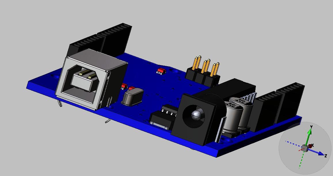 电路板_solidworks_电路结构_3d模型_图纸下载_微小网