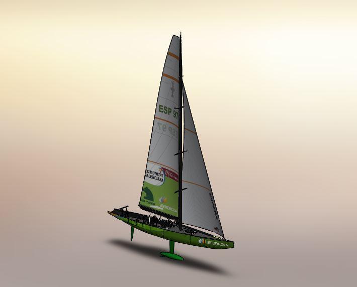 帆船项目矢量图