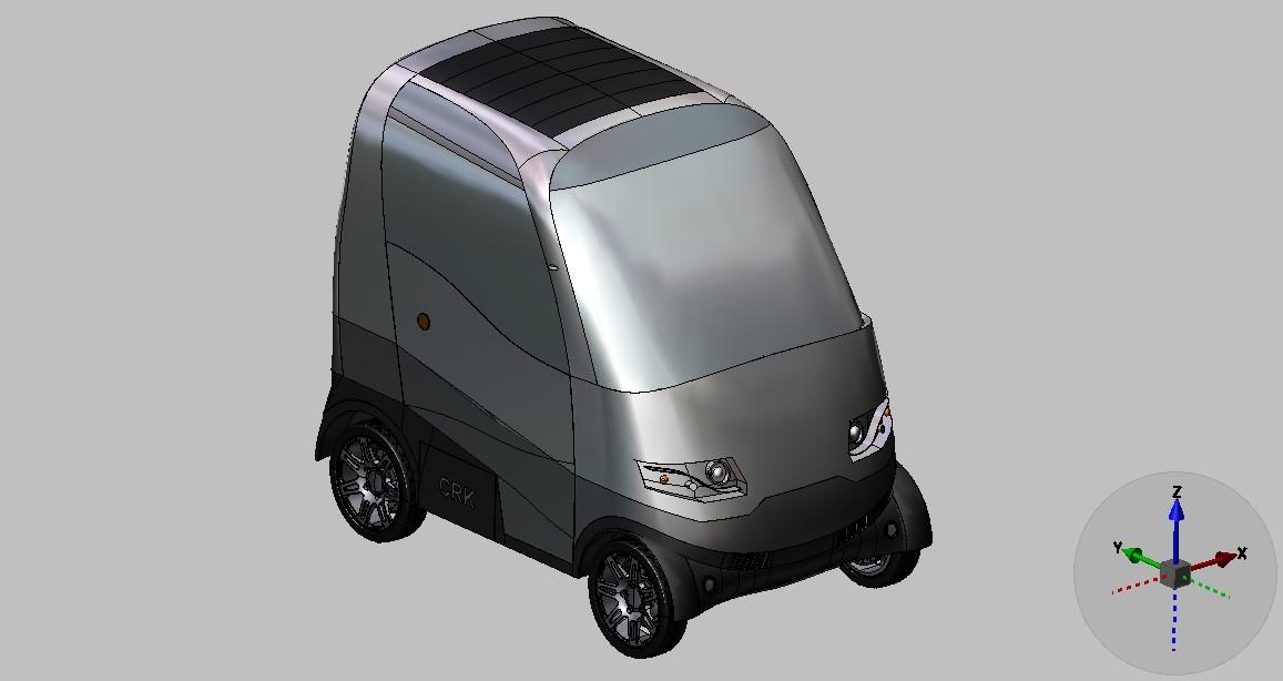 电动小汽车_step/stp_交通工具