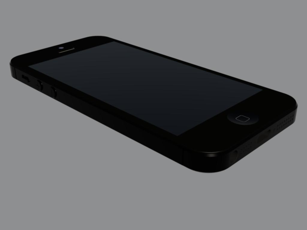 苹果5s手绘模型图