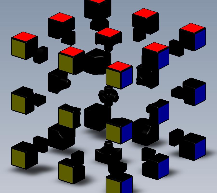 经典魔方_solidworks_玩具礼品_3d模型_图纸下载_微小