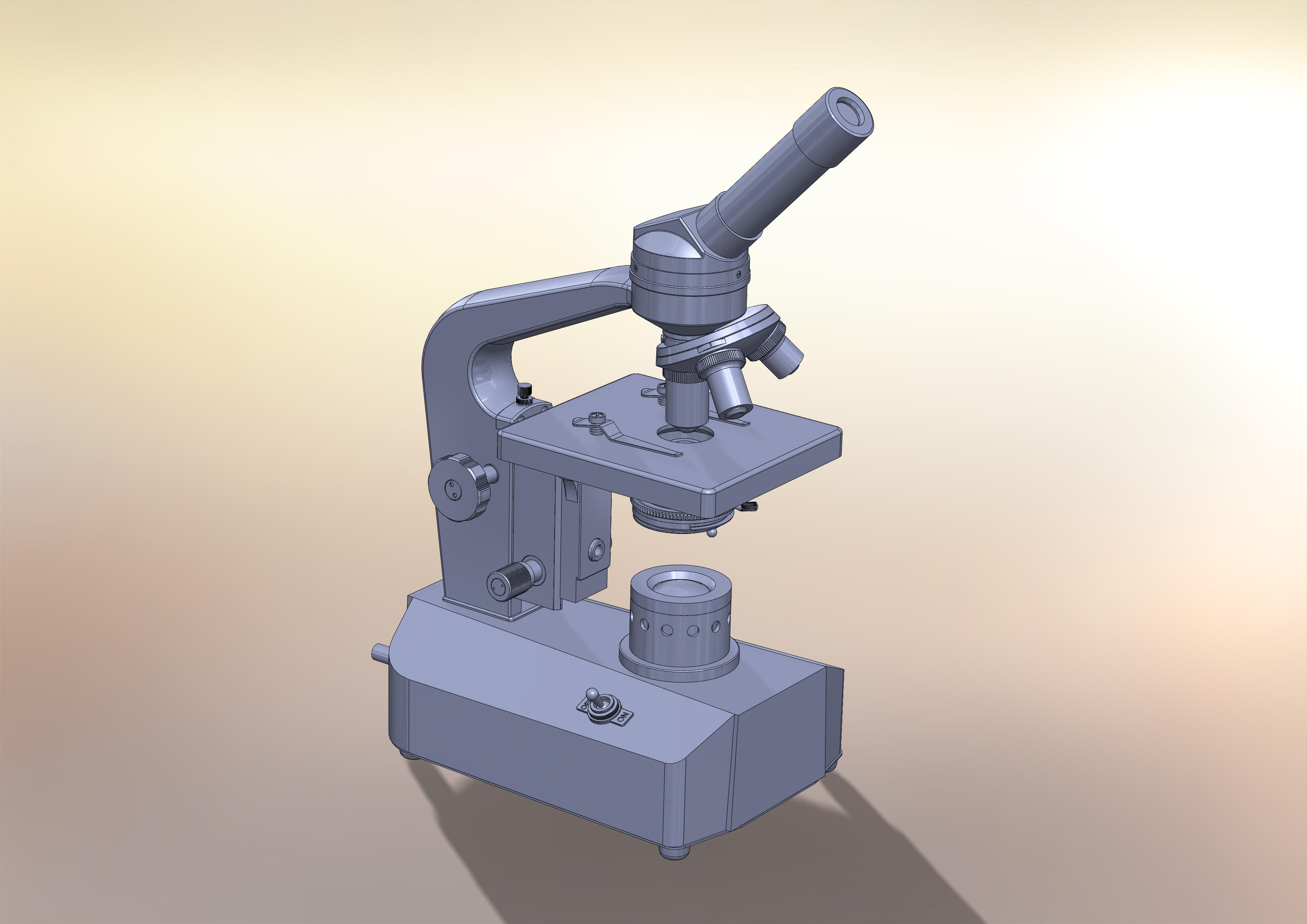显微镜_stl_玩具礼品_3d模型_图纸下载_微小网