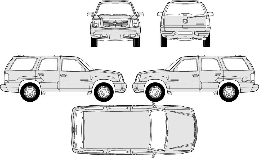 汽车模型矢量图_其他_交通工具