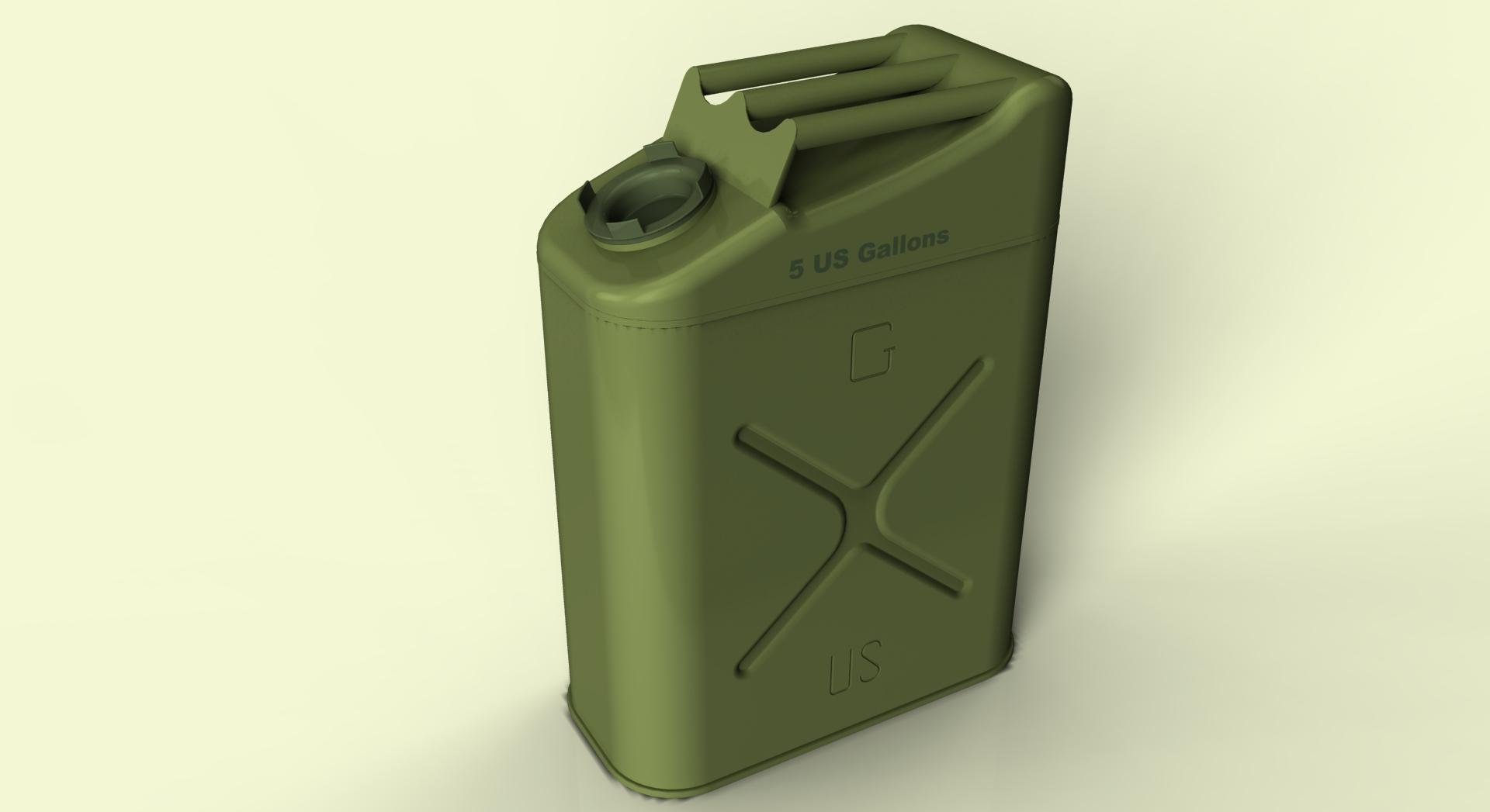 绿色汽油箱矢量图