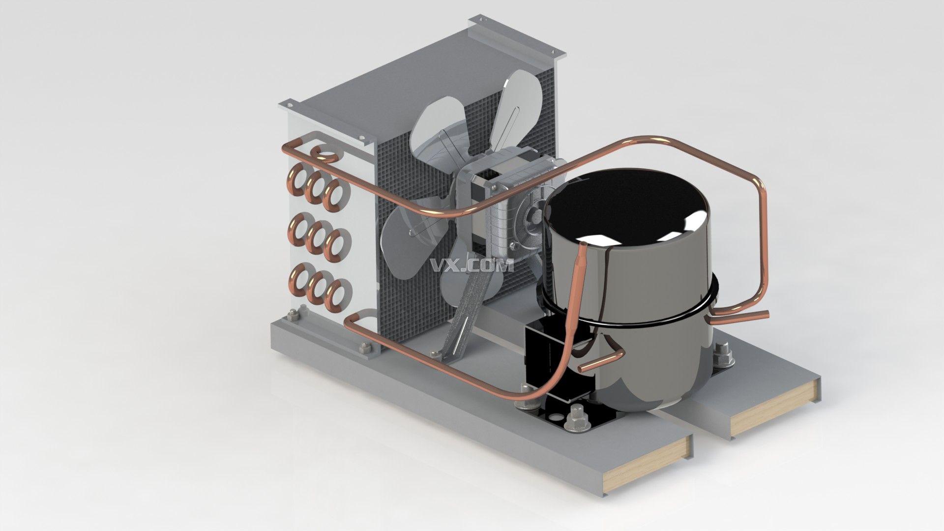 冰箱制冷装置_solidworks_机械设备_3d模型_图纸下载