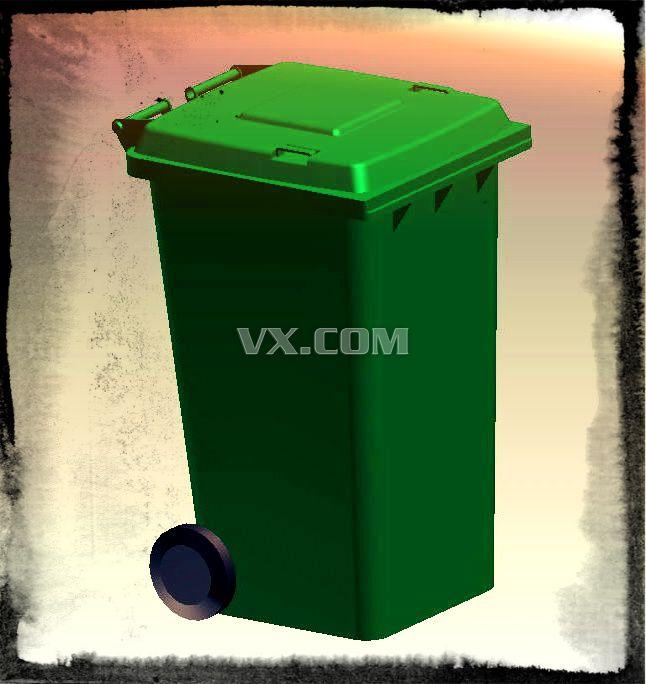 移动垃圾桶_solidworks