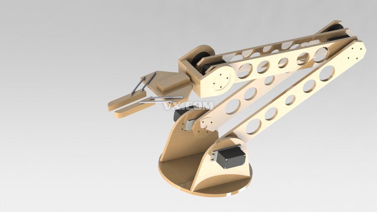 机械臂设计图-简易机械臂/机械臂结构/机械手臂/机械臂设计 未来