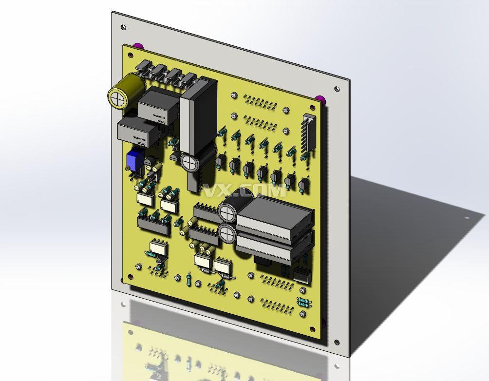 rs232转rs485接线端子的pcb板子