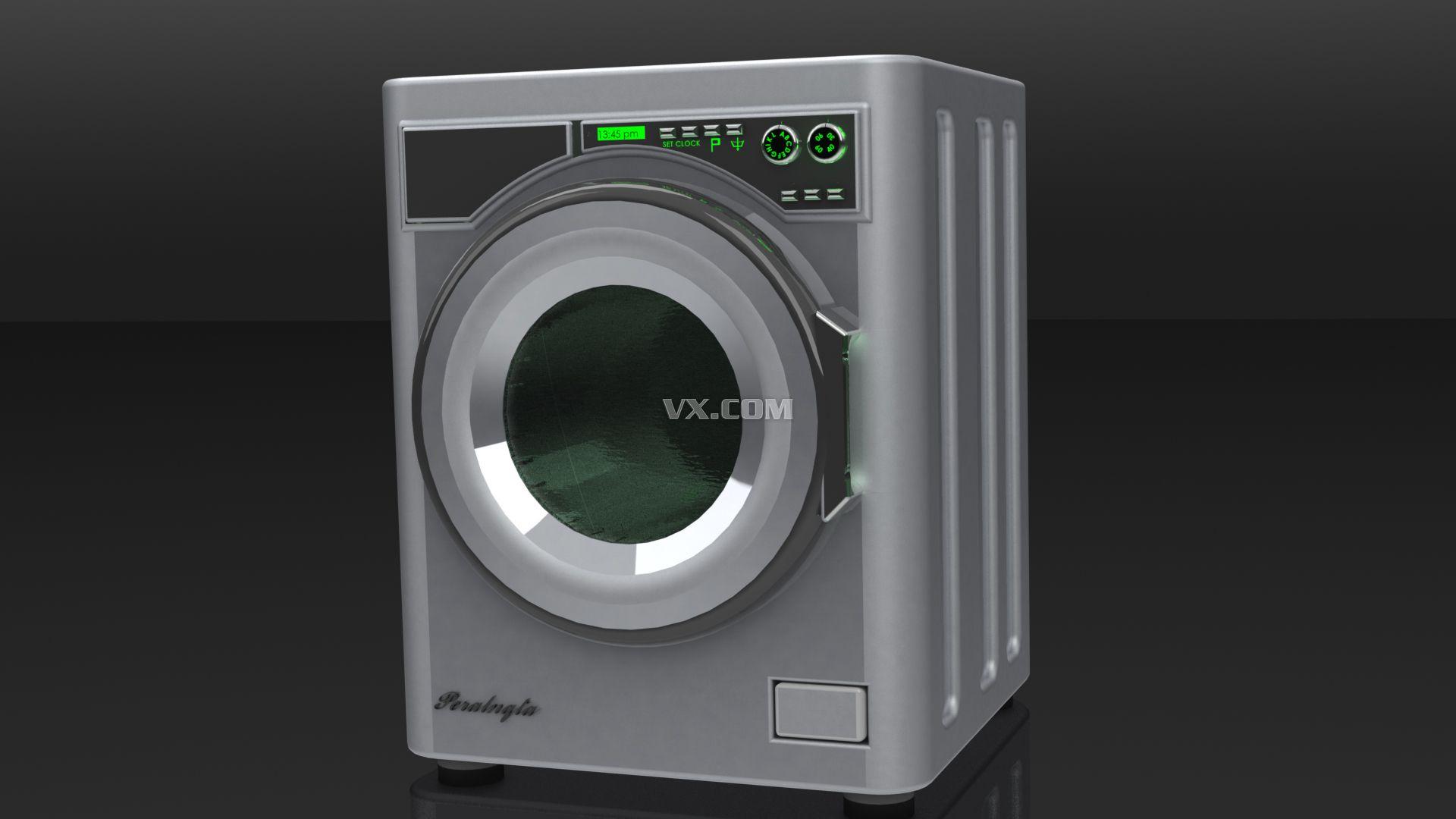 滚筒洗衣机_solidworks